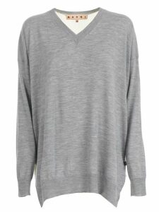 Marni Sweater L/s V Neck Bicolour