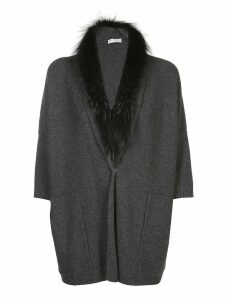 Fabiana Filippi Fox Fur Neck Cardigan