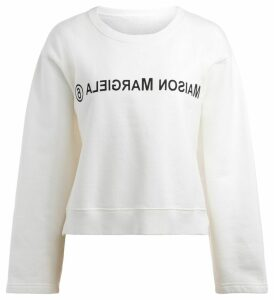 White Mm6 Maison Margiela Sweatshirt With Front Logo