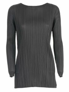 Pleats Please Issey Miyake Sweater L/s Crew Neck Long