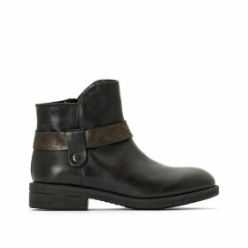 Leather Ankle Boots Exclusive to La Redoute
