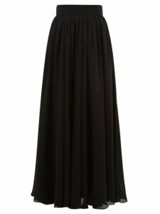 Zimmermann - Super Eight Silk-charmeuse Maxi Skirt - Womens - Black