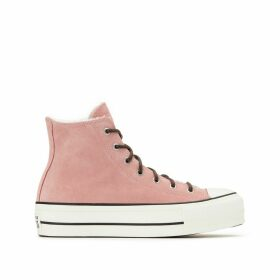 Chuck Taylor All Star Lift Suede Sherpa Hi Trainers