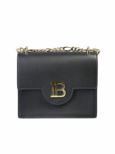 Balmain Logo Insert Leather Bag
