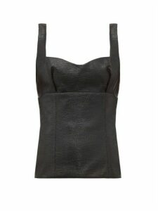 Emilia Wickstead - Madeleine Glossed Jersey Top - Womens - Black