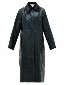 Stand Studio - Nino Single-breated Reverse Faux-shearling Coat - Womens - Black