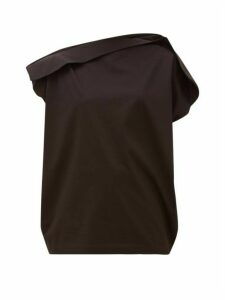 Issey Miyake - Unique Panelled Cotton-jersey T-shirt - Womens - Black