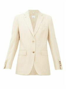 Burberry - Layered-effect Wool-blend Blazer - Womens - Light Beige