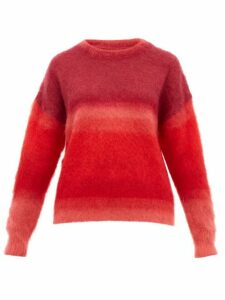 Isabel Marant Étoile - Drussell Ombré Stripe Mohair Blend Sweater - Womens - Red Multi