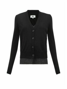 Mm6 Maison Margiela - Layered Wool-blend Cardigan - Womens - Black