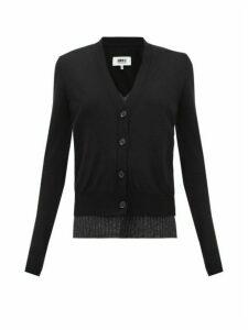 Mm6 Maison Margiela - Layered Wool-blend Cardigan - Womens - Black