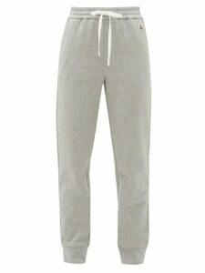 Moncler - Logo-appliqué Cotton-blend Track Pants - Womens - Grey