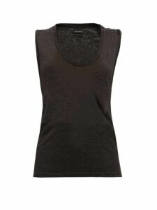 Isabel Marant - Maik Scoop-neck Linen Top - Womens - Black