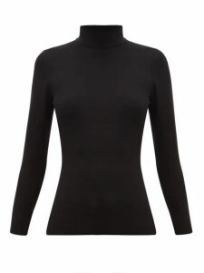 Joseph - Roll-neck Silk-blend Sweater - Womens - Black