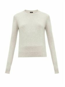 Joseph - Round Neck Cashmere Sweater - Womens - Light Grey