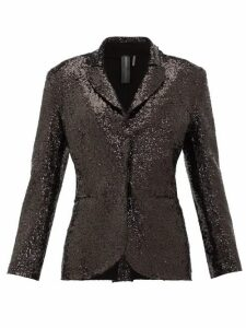 Norma Kamali - Single-breasted Sequinned Jersey Blazer - Womens - Black