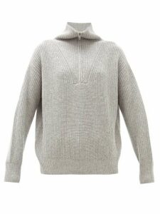 Nili Lotan - Hester Zipped High-neck Cashmere Sweater - Womens - Grey