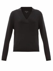 Nili Lotan - Beacon Surplice V-neck Cashmere Sweater - Womens - Black
