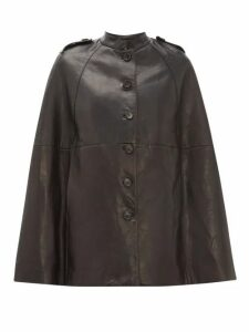 Nili Lotan - Jentry Leather Cape - Womens - Black