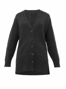 Proenza Schouler - Rib-knitted Cashmere Cardigan - Womens - Charcoal