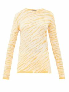 Proenza Schouler - Tie-dyed Cotton Long-sleeved T-shirt - Womens - Yellow