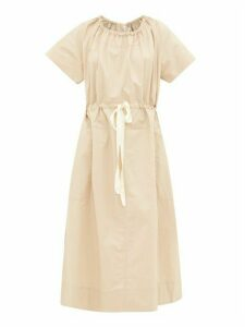 Lee Mathews - Workroom Drawcord Cotton-poplin Dress - Womens - Beige