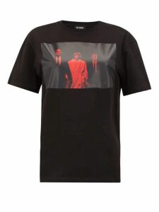 Raf Simons - Twin Peaks-print Cotton-jersey T-shirt - Womens - Black