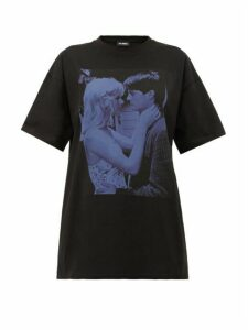 Raf Simons - Blue Velvet Printed Cotton T-shirt - Womens - Black