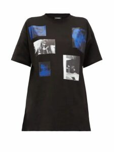 Raf Simons - Blue Velvet-print Cotton-jersey T-shirt - Womens - Black