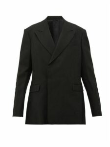Raf Simons - Concealed Double Breasted Wool Twill Blazer - Womens - Black