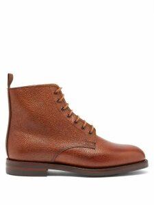 Crockett & Jones - Barnwell Pebbled-leather Derby Boots - Womens - Tan