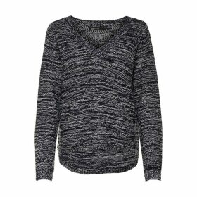 Chunky Knit V-Neck Jumper