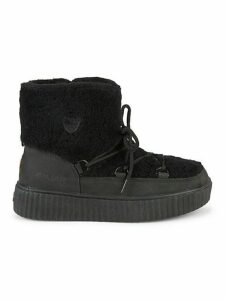 Ewa Shearling-Trimmed & Faux Fur-Lined Nubuck Winter Boots