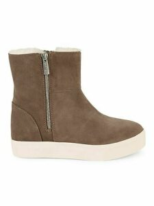 Wallace Waterproof Faux Shearling-Lined Suede Boots