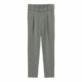 Houndstooth Slim Trousers, Length 28