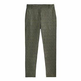 Slim Glitter Trousers, Length 27.5