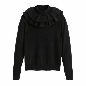 Ruffed High Neck Jumper