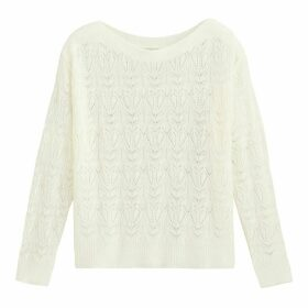 Openwork Boat Neck Jumper