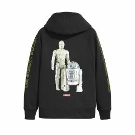 Levis x Star Wars Cotton Hoodie with R2-D2 and C-3PO Print