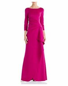 Eliza J Draped Scuba Gown