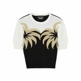 Boutique Moschino Palm-intarsia Fine-knit Jumper