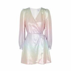 Olivia Rubin Meg Metallic Dégradé Silk Mini Dress