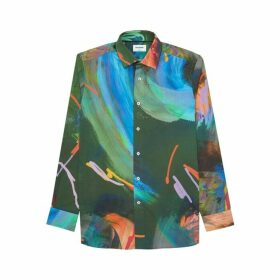 DUCHAMP LONDON Painted Abstract Print Shirt
