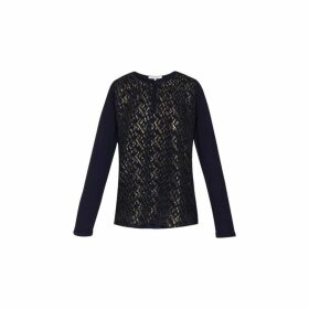 Gerard Darel Bi-material Eliseo Top With Lurex