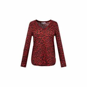 Gerard Darel Leopard-printed Elyse T-shirt