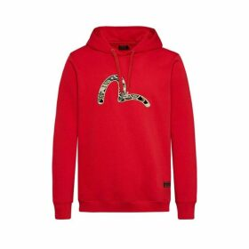 Evisu Hooded Sweatshirt With Scale-patterned Seagull Embroidery