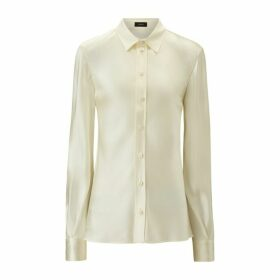 Joseph George Silk Satin Blouse