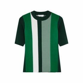 BOSS Faspen Striped Stretch-knit Top