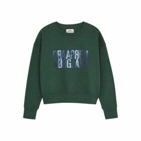 Mads Nørgaard Tilvina Logo-print Cotton Sweatshirt