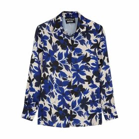 Boutique Moschino Blue Floral-print Satin Shirt